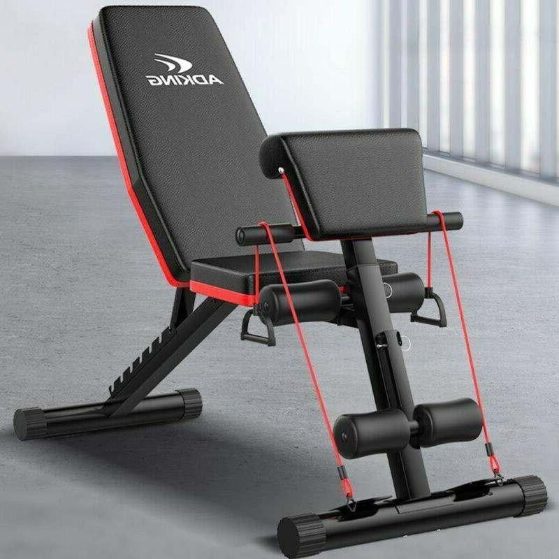 adjustable decline incline home gym weight bench