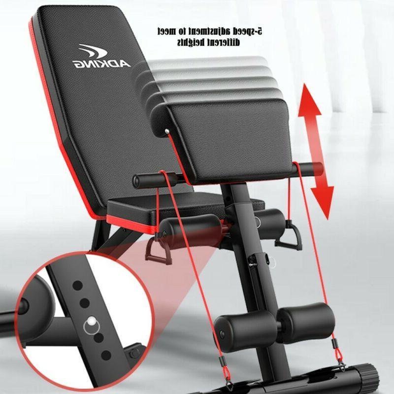 Adjustable Decline Incline Gym Sit UP AB Fitness Fid