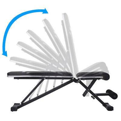 Adjustable Flat Incline Weight Bench Gym Utility Body Workou