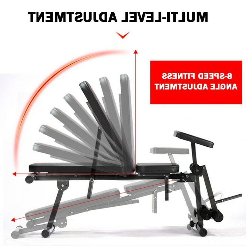 Adjustable Folding Flat Fitness Workout