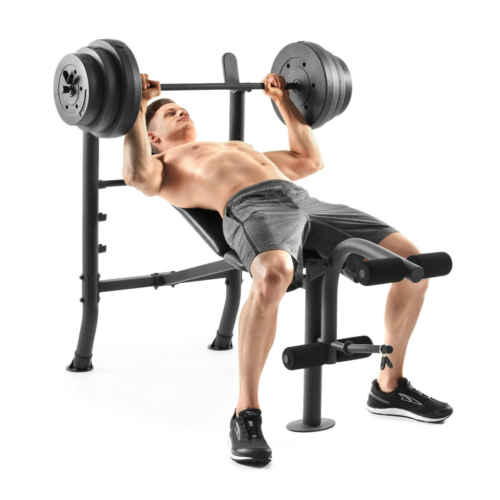ADJUSTABLE LIFTING SET With Weights And Bar 100 Flat