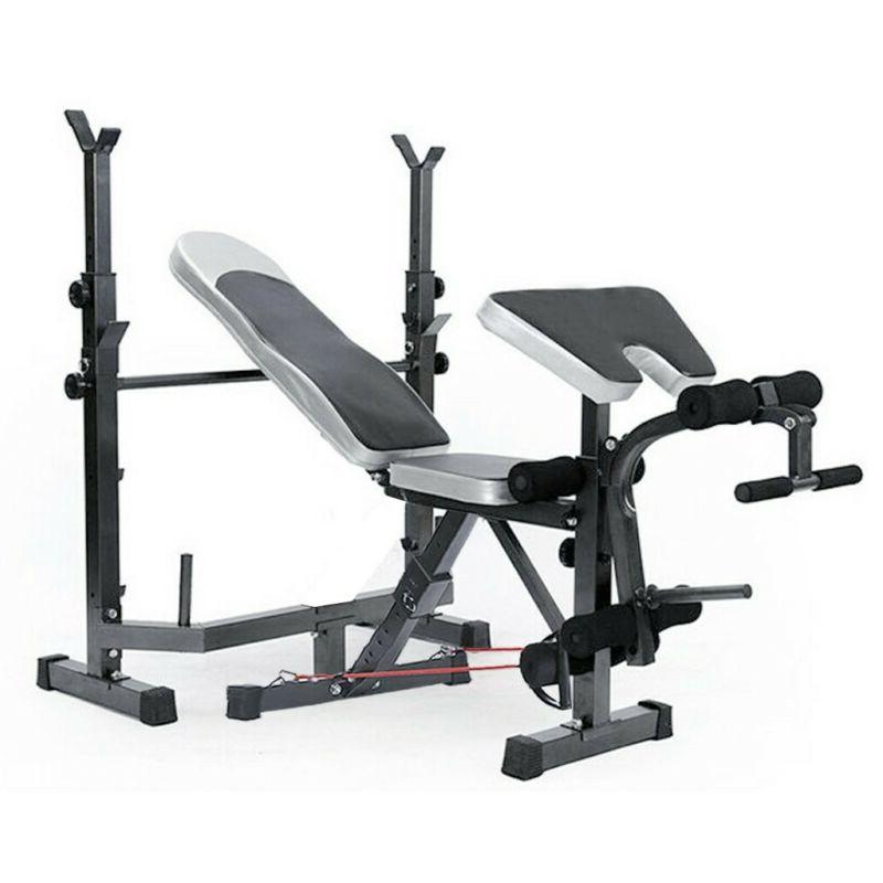 Weight Set Weight Home Bench Press Barbell Rack Exercise