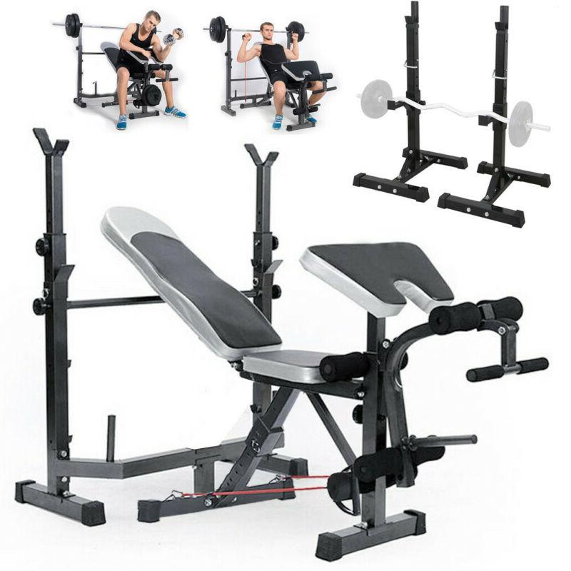 weight bench set with weight home gym