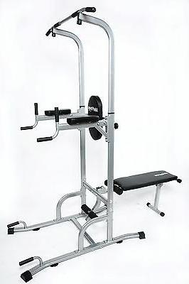 Ader Adjustable Muti-Function VKR Power Tower w/ Sit Up Benc