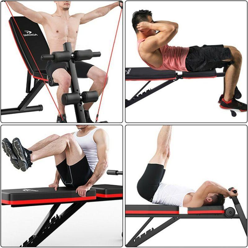 Adjustable Bench Decline Body Workout Gym