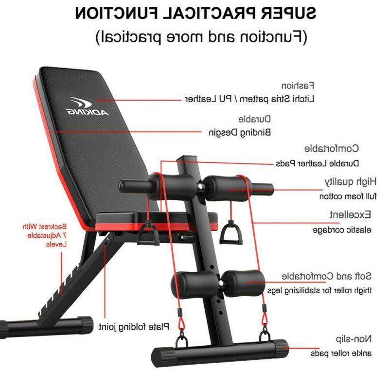 Adjustable Bench Incline Decline Foldable Workout Training