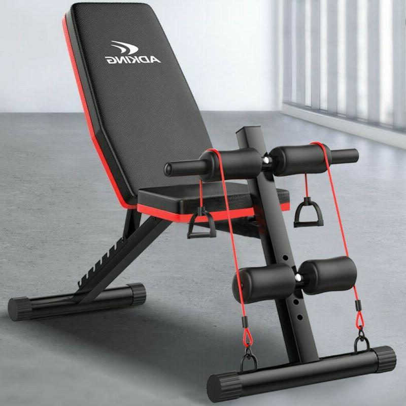adjustable weight bench incline decline foldable full