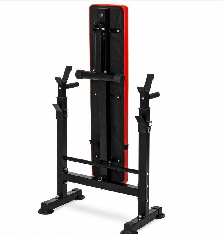 ADJUSTABLE WEIGHT BENCH Press Barbell Strength Training Workout