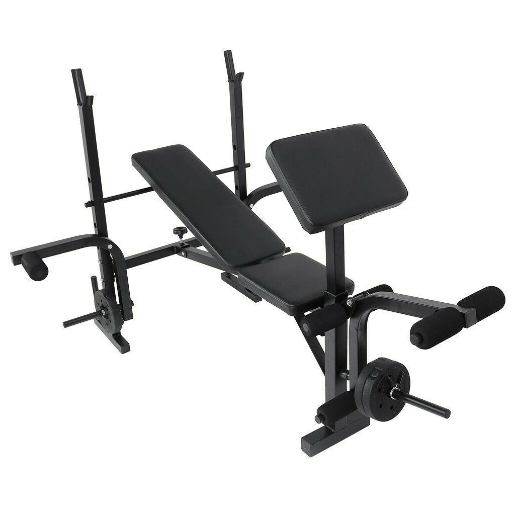 Weight Bench Adjustable Home Gym Barbell Exercise Workout