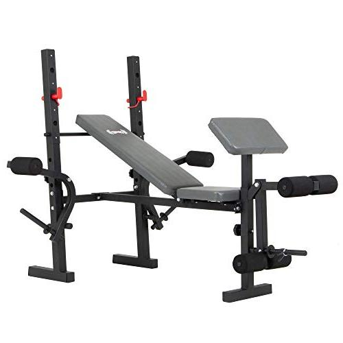 Body Champ Standard Weight Bench with Butterfly and Preacher