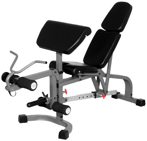 XMark Fitness Flat/Incline/Decline Bench Leg Extension and