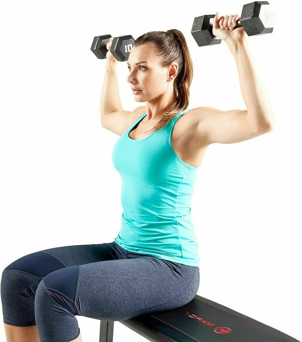 Flat Capacity Bench for Weight and Ab Exercises