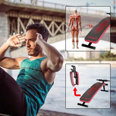 Folding Weight Sit-up Board Curved Bench Red