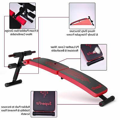 Folding Weight Sit-up Bench Home Gym Red