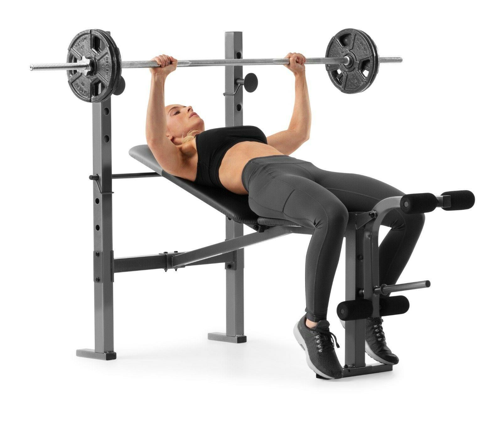 Weider Workout Weight Bench Leg Extension Rack
