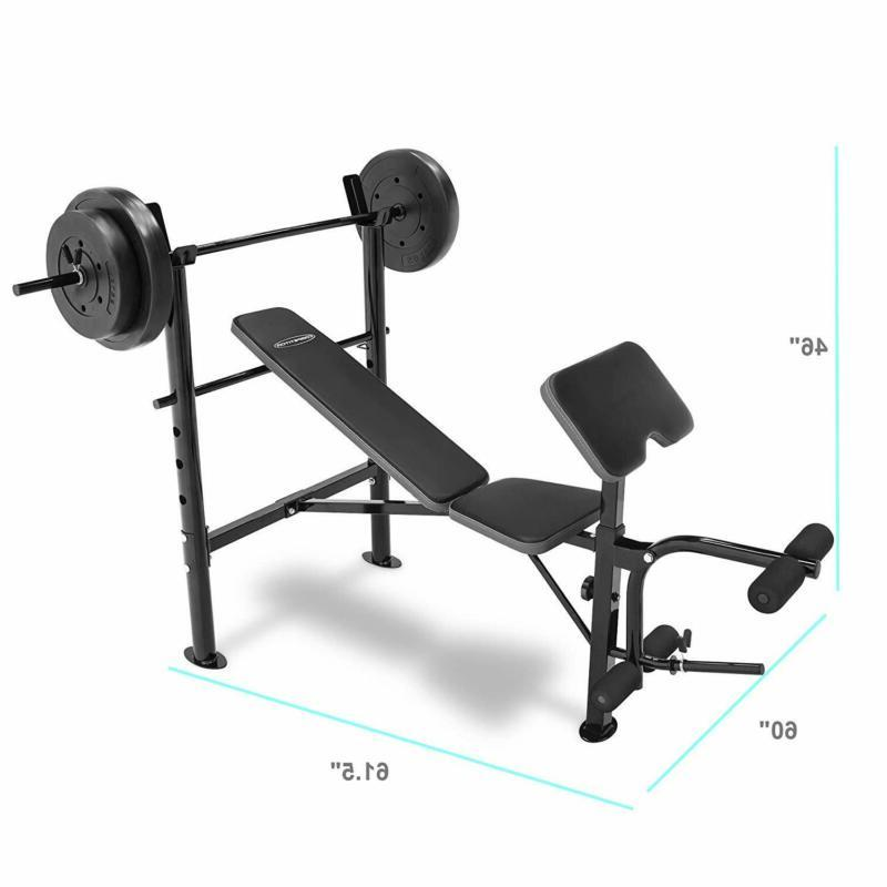 Competitor Marcy Bench With 80 Lbs Set