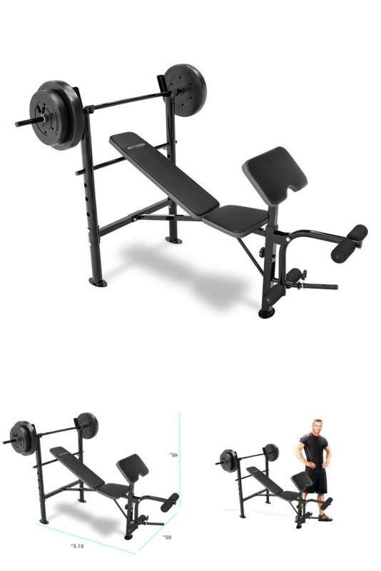 marcy workout bench with 80 lbs weight