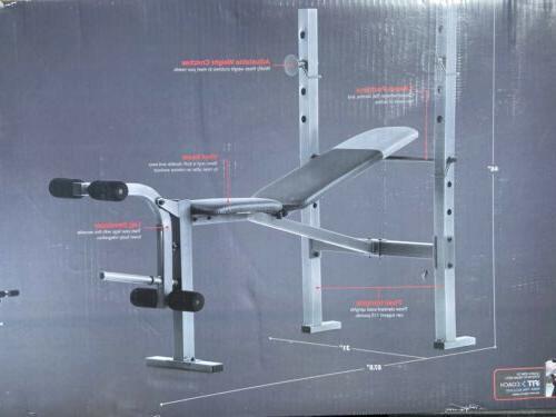 💪🏽🔥 NEW Weider 6.1 Adjustable Bench + Rack + Foot Standard
