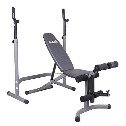 Body Olympic Weight with Extension Attachment/2 Combo Bench and Stand