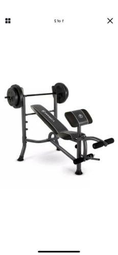Marcy Standard Weight Bench + 80 lb Weight Set BRAND NEW MW