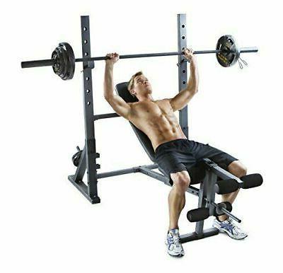 Weider XR Olympic Weight w/ Developer + Gold's Gym