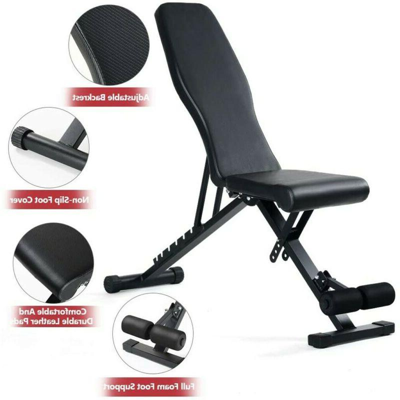 Weight Bench Flat Incline Strength