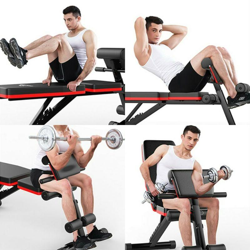 Adjustable Decline Incline Home Gym Weight UP AB Fitness Fid