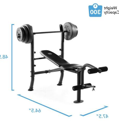 Weight Bench with Weight Set - - CAP - GYM- NEW AND IN HAND!