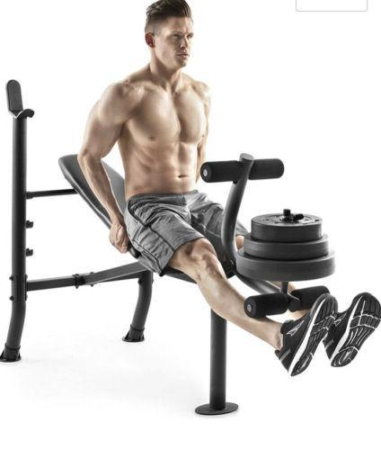 Weight Bench Weight Set - CAP - GYM- NEW HAND!