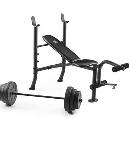Weight Bench with Weight Set - - GYM- HAND!