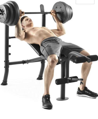 Weight Bench Weight Set Weider - - GYM- AND IN HAND!