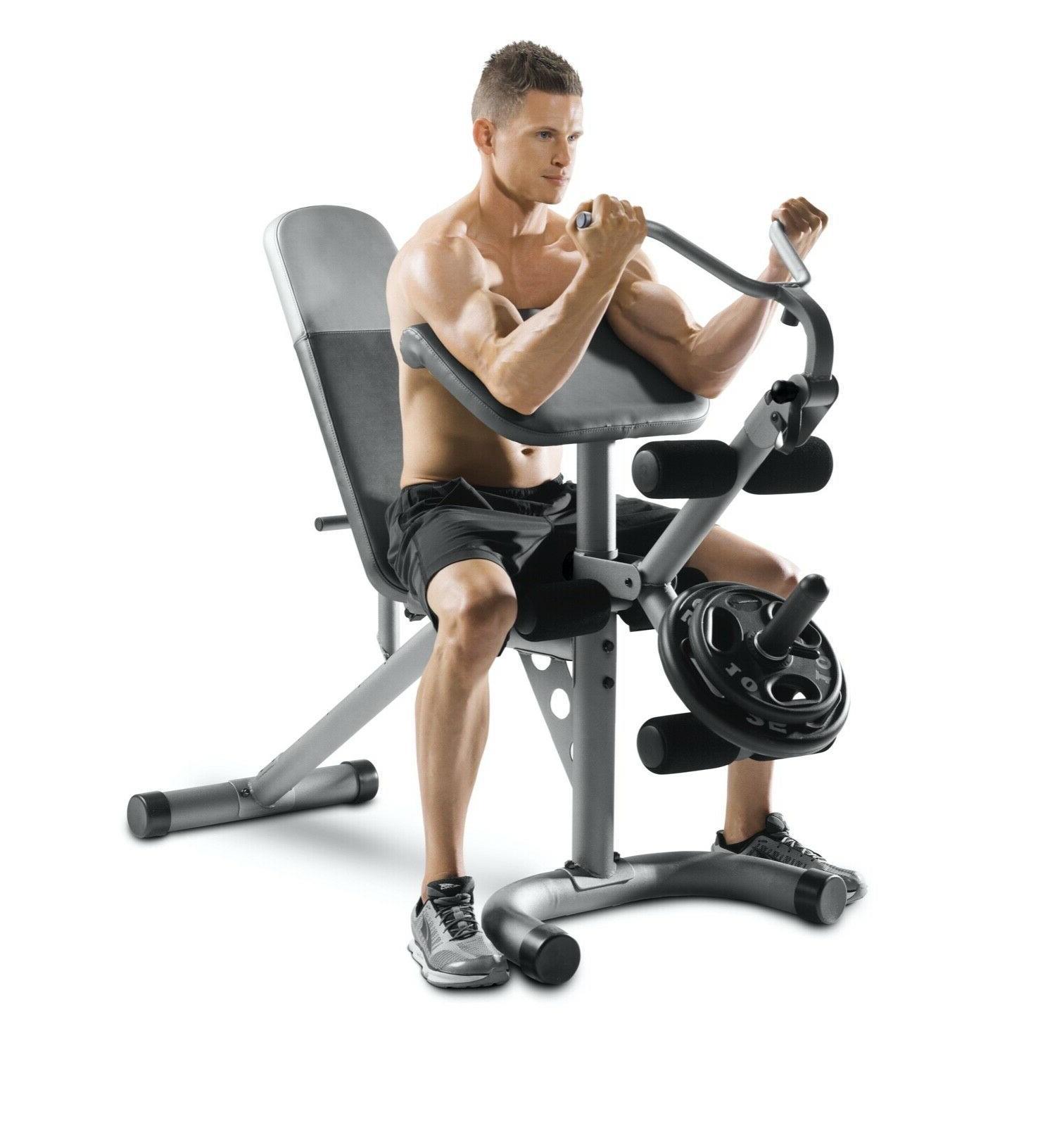 Weider XRS Weight Bench Preacher & Leg Developer