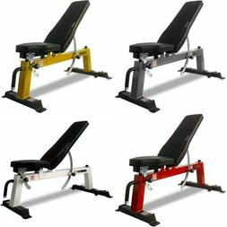 NEW CAP Barbell Deluxe Utility Weight Bench Adjustable Home