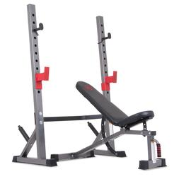 Olympic Weight Bench and Squat Rack Two Piece Set Home Gym A