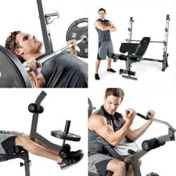 Marcy Olympic Weight Bench for Full-Body Workout Black