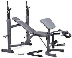 Olympic Weight Bench Set Press Squat Fitness Barbell Workout