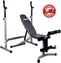 Olympic Weight Bench w/ Dual Leg Workout + Adjustable Squat