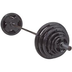 Body-Solid OSR300S Rubber Grip Olympic Set With Chrome Bar