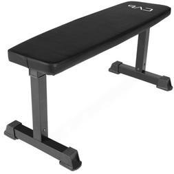 🔥💪🏽 Cap Premium Flat Training Weight Bench Golds Gy