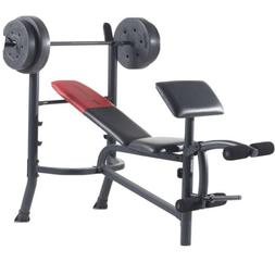 Weider pro 265 standard bench With 80lbs Weight Preacher Cur