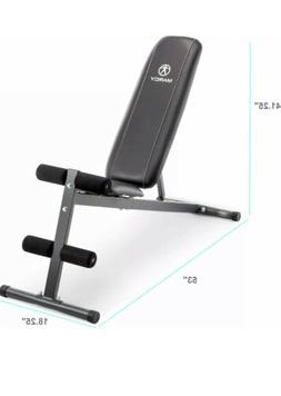 Marcy SB-261w Exercise Adjustable Utility Bench Incline, Dec