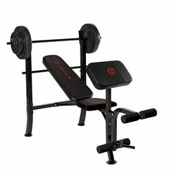Marcy Standard Weight Bench with 80-lb. Set, MKB-2081