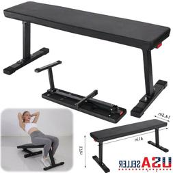 Weider Strength Flat Weight Bench with Sewn Vinyl Seats Home