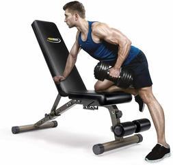 FEIERDUN Weight Bench, Adjustable Workout Bench w/ Incline &
