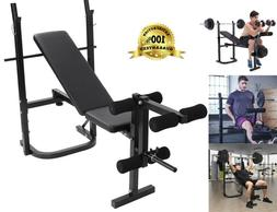 Weight Bench Barbell Lifting Press Gym Equipment Exercise Ad