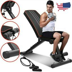 Weight Bench Multi Adjustable Gym Workout Exercise Flat Incl
