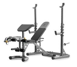 Workout Bench With Squat Rack Golds Gym XRS 20 Olympic Plate
