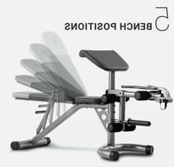 Weider XRS 20 Olympic Workout Bench W/ Preacher Pad Leg Deve