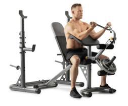 weider xrs 20 weight bench With Preacher Pad & Leg Developer